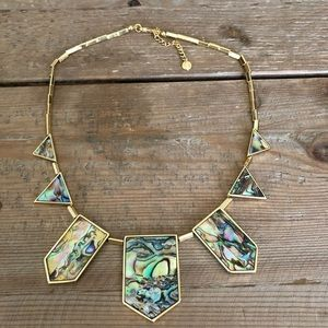 House of Harlow Abalone and Gold Plated Necklace